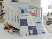 Детский комплект постельного белья Ранфорс «Путешествия Тома»