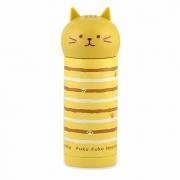 Детский термос 250 мл светло - коричневый Кошка