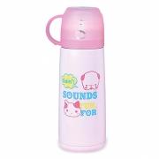 Детский термос 350 мл розовый