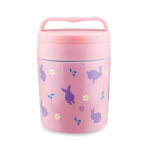 Детский термос для еды 350 мл розовый