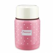 Детский термос для еды розовый 350 мл