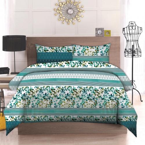 Двуспальный комплект постельного белья Бязь премиум «Ліана»