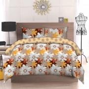 Двуспальный комплект постельного белья Бязь премиум «Літо»