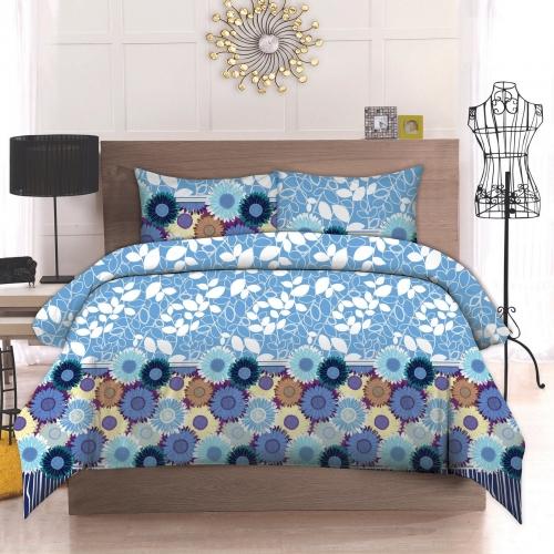 Двуспальный комплект постельного белья Бязь премиум «Софіт»