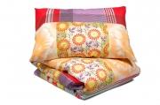 Двуспальный комплект постельного белья эконом «Цветы»