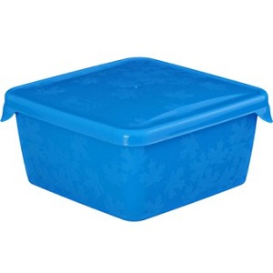 """Емкость для морозилки квадр. """"RUKKOLA"""" 0,45л цветная"""