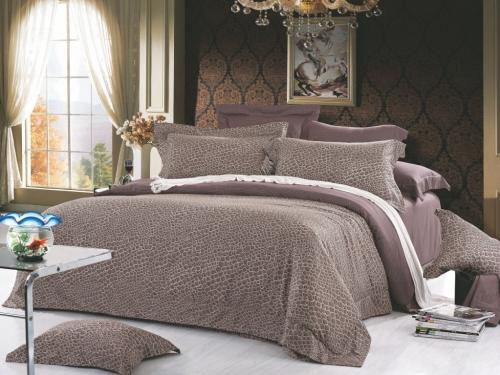 Евро king size комплект постельного белья Сатин «Рената»