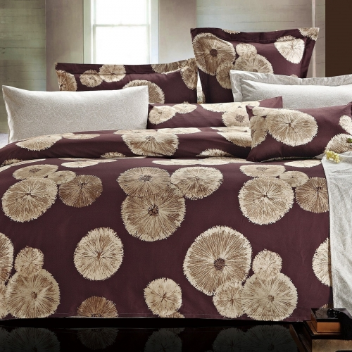 Евро King Size комплект постельного белья Сатин Люкс «Анаис»