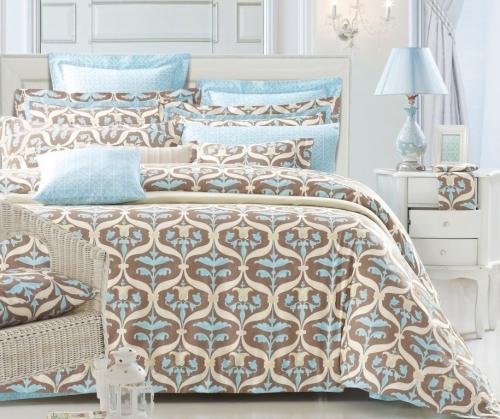Евро King Size комплект постельного белья Сатин Люкс «Феличита»