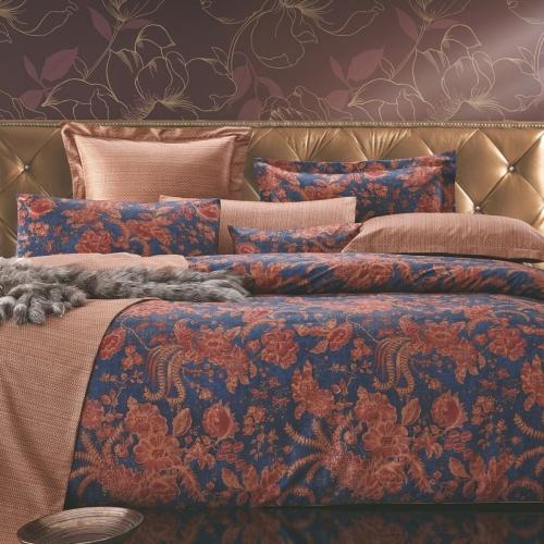 Евро King Size комплект постельного белья Сатин Люкс «Мириам»