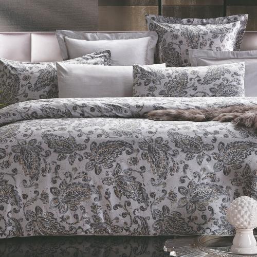 Евро King Size комплект постельного белья Сатин Люкс «Валери»