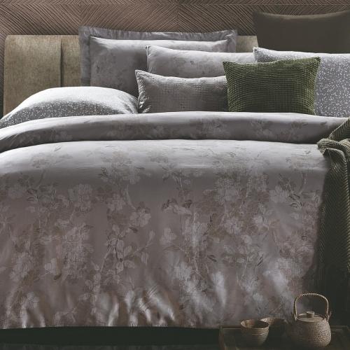 Евро King Size комплект постельного белья Сатин Люкс «Франка»