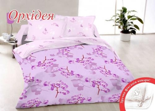 Евро комплект постельного белья Бязь «Орхидея»