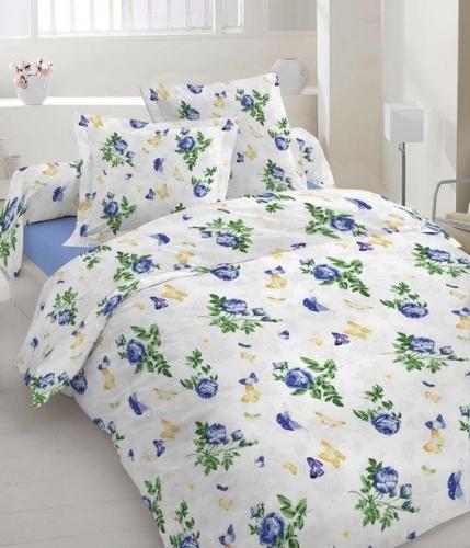 Евро комплект постельного белья Бязь голд «Метелик»