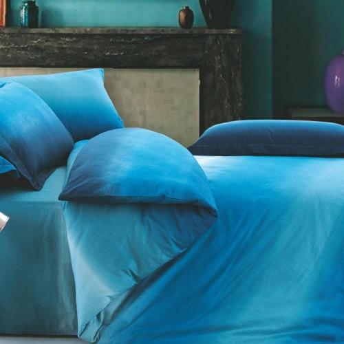 Евро комплект постельного белья Сатин «Аква»