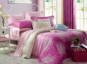 Евро комплект постельного белья Сатин «Фиори Розовый»