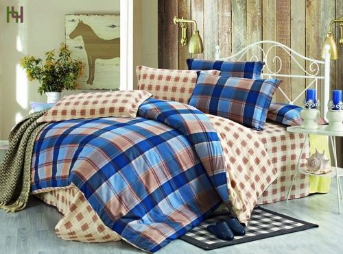 Евро комплект постельного белья Сатин «Лоренцо»
