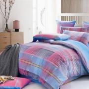 Евро комплект постельного белья Сатин «Скай»