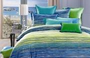 Евро комплект постельного белья Сатин Люкс «Марина»