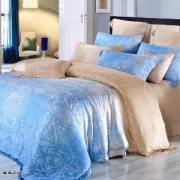 Евро комплект постельного белья Сатин Люкс Тенсел «Тиара»