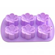 Форма для выпечки 6 кексов Цветы