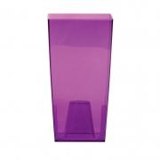 Горшок для цветов URBI 125мм квадратный прозрачный фиолетовый 70821-8
