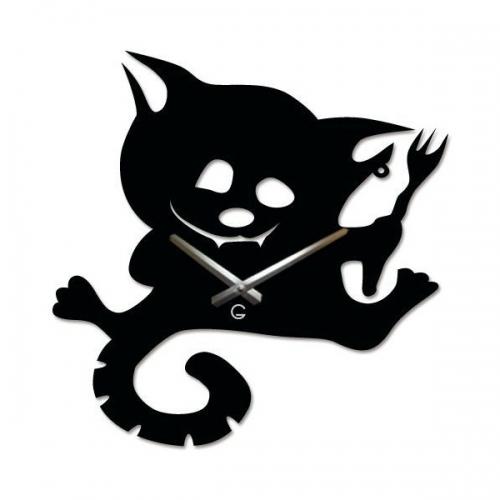 Настенные Часы Glozis Cat with a Fork