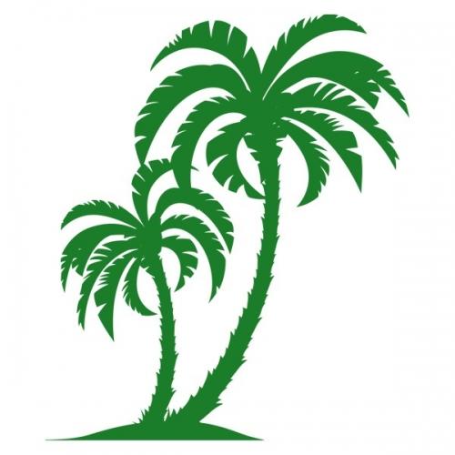 Виниловая Наклейка Glozis Palm Tree