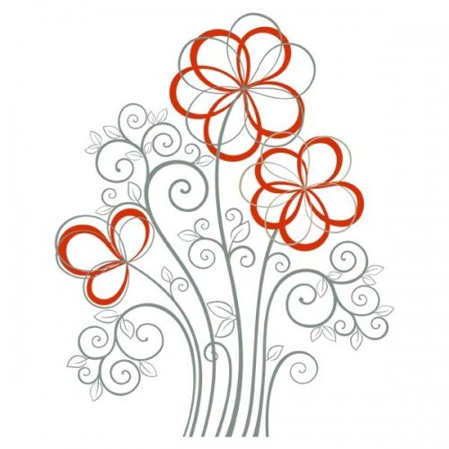 Виниловая Наклейка Glozis Flowers