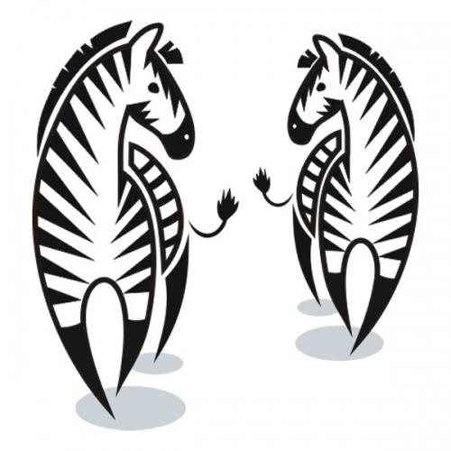 Виниловая Наклейка Glozis Zebra