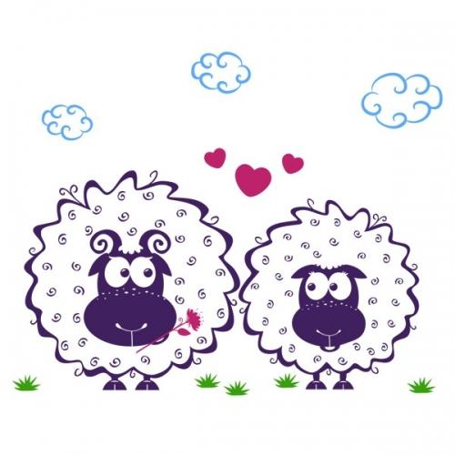 Виниловая Наклейка Glozis Lamb