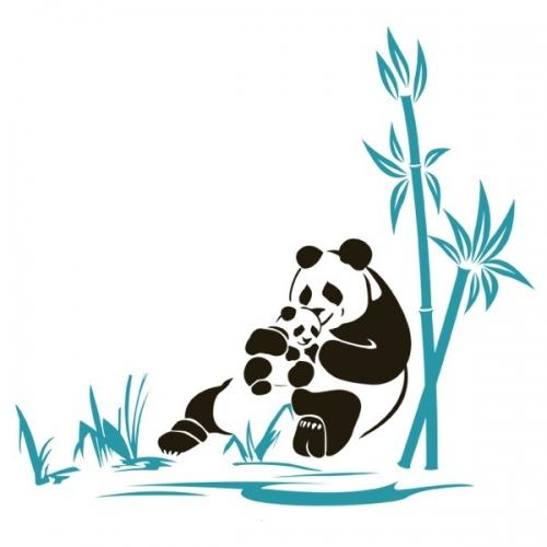 Виниловая Наклейка Glozis Panda