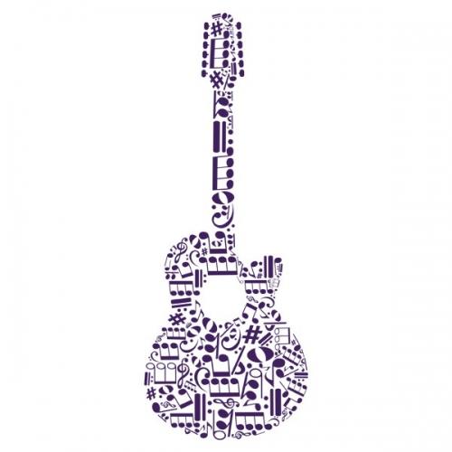 Виниловая Наклейка Glozis Guitar
