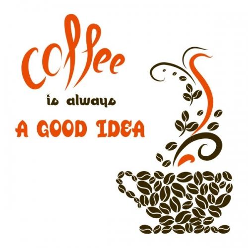 Виниловая Наклейка Glozis Coffee a  Good Idea