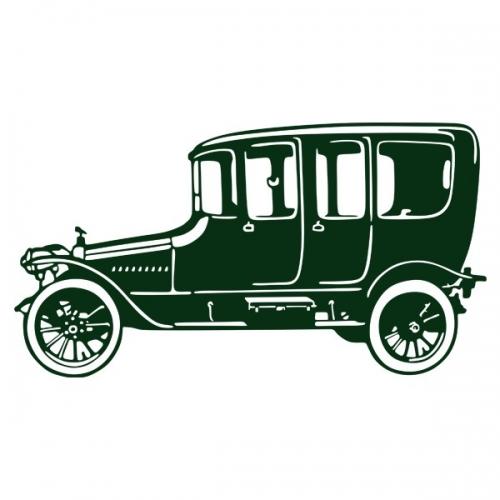 Виниловая Наклейка Glozis Retro Car