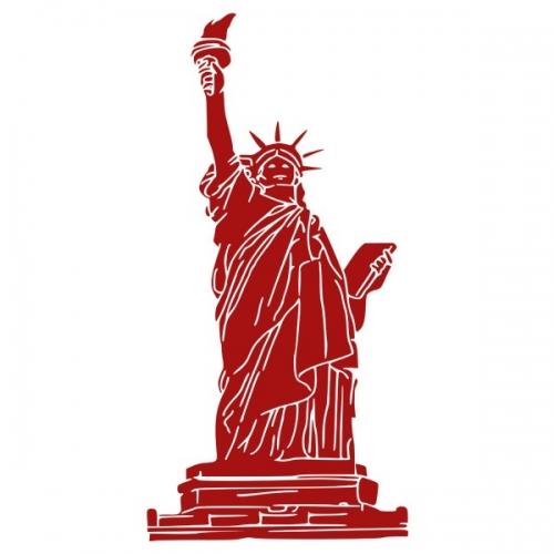 Виниловая Наклейка Glozis Statue of Liberty