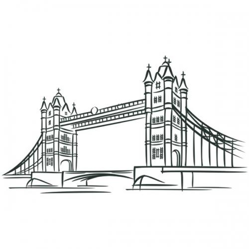 Виниловая Наклейка Glozis London Bridge