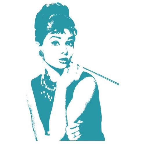 Виниловая Наклейка Glozis Audrey Hepburn