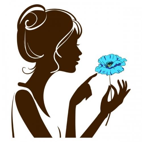 Виниловая Наклейка Glozis Girl with Flower