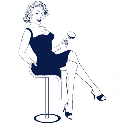 Виниловая Наклейка Glozis Marilyn