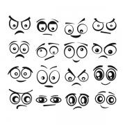Виниловая Наклейка Glozis Funny Eyes
