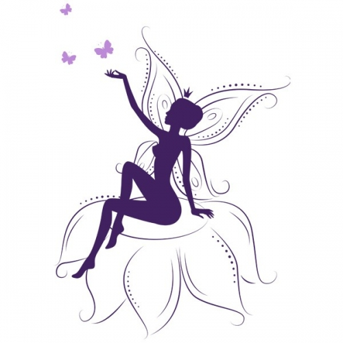 Виниловая Наклейка Glozis Fairy on Flowers