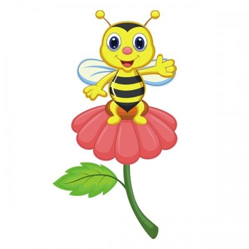 Виниловая Наклейка Glozis Bee on a Flower