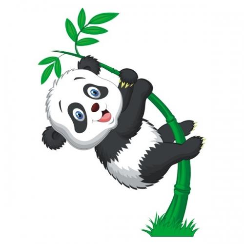Виниловая Наклейка Glozis Little Panda