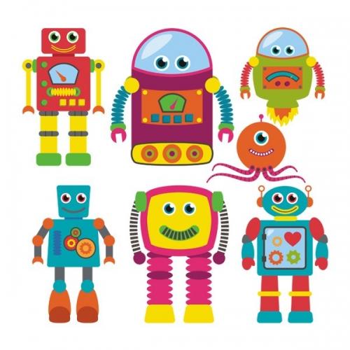 Виниловая Наклейка Glozis Robots