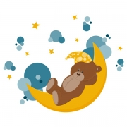 Виниловая Наклейка Glozis Sleeping Bear