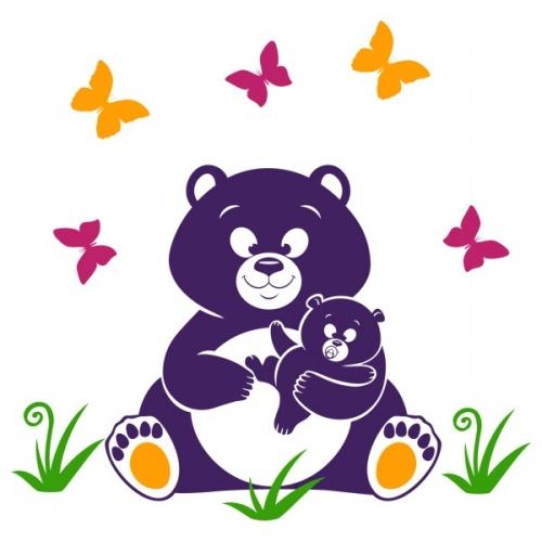 Виниловая Наклейка Glozis Bear