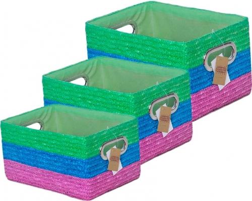 Набор корзин прямоугольных 3