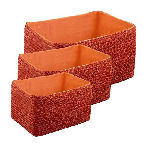 Набор корзин прямоугольных оранжевых