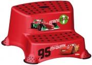 Ступень-лавочка на две ступеньки CARS красная 1549